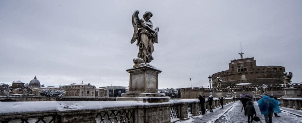 Neve a Roma e sul litorale