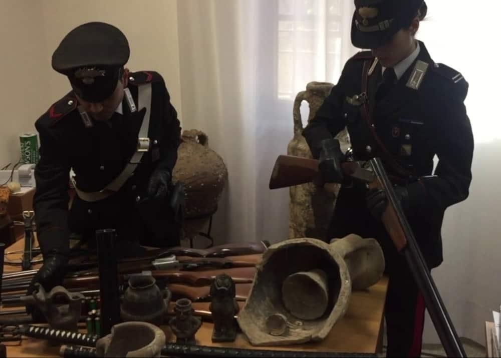 civitavecchia armi e reperti carabinieri