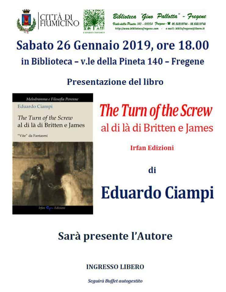 A Fregene ''The Turn of the Scew - al di là di Britten e James''