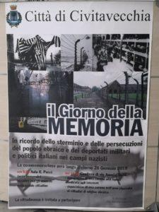 Civitavecchia, il 28 gennaio il Giorno della Memoria