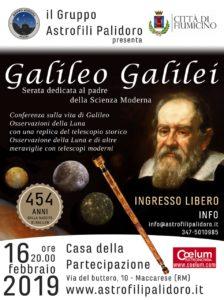 Maccarese, sabato 16 febbraio una serata dedicata a Galileo Galilei