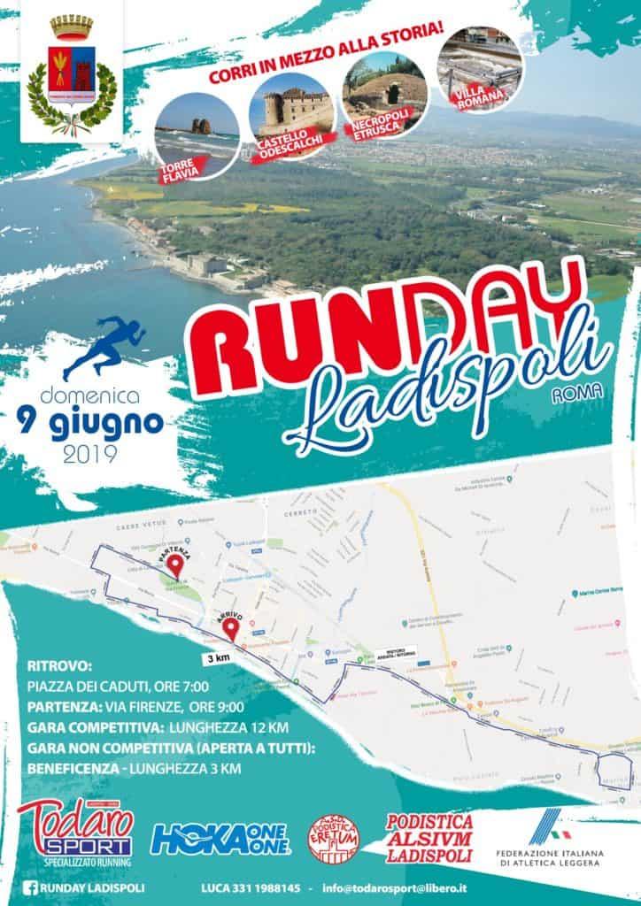 Ladispoli, il 9 Giugno arriva Runday