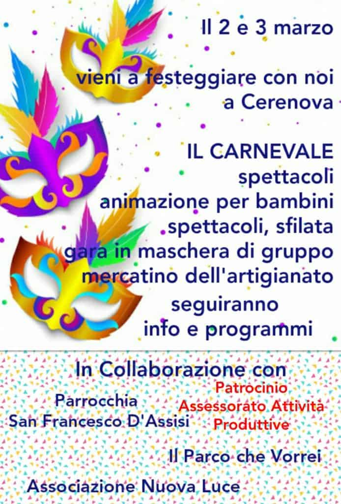 Marina di Cerveteri, doppio grande appuntamento per il Carnevale 2019 Marina di Cerveteri, doppio grande appuntamento per il Carnevale 2019