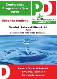 PD Ladispoli: ''Mercoledì una seconda Conferenza Programmatica sulla Gestione della rete idrica comunale''