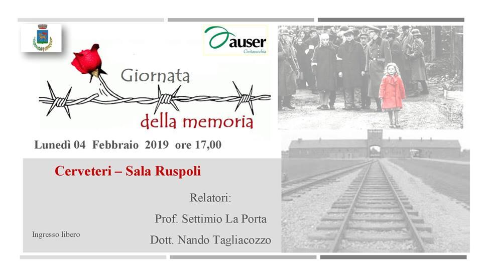 Olocausto, a Cerveteri la conferenza Auser ''Per non dimenticare''
