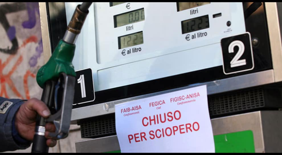 benzinai sciopero