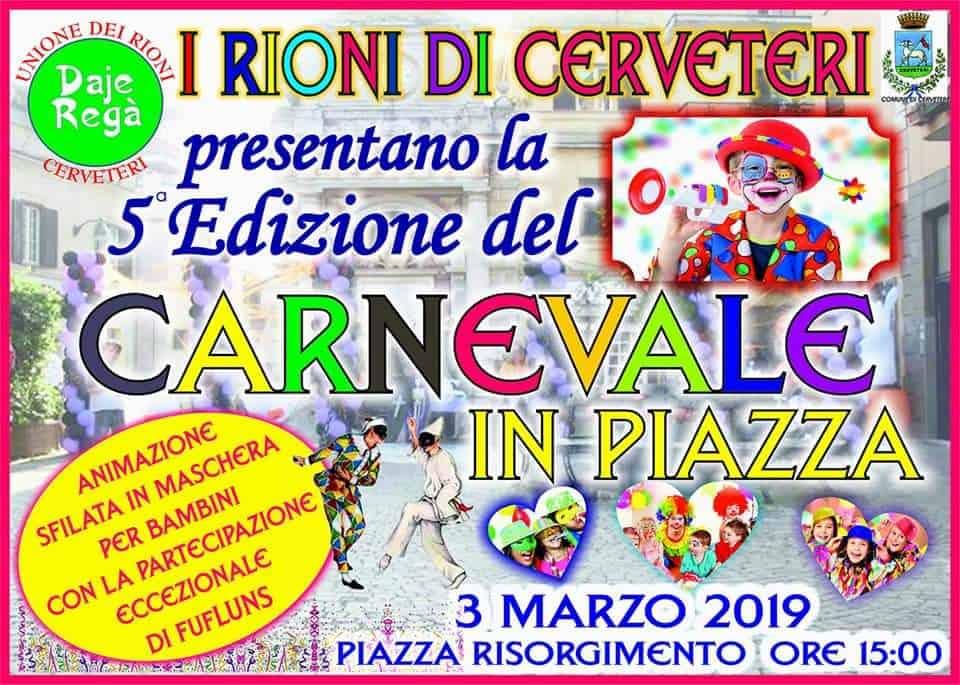 Cerveteri, torna il Carnevale in Piazzarioni
