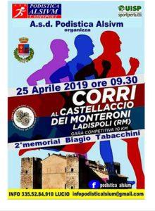 Ladispoli, il 25 aprile 'Corri al Castellaccio dei Monteroni'
