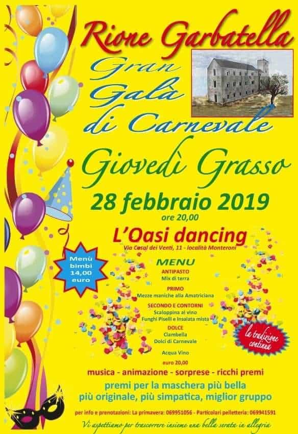 Gran Galà di Carnevale con il Rione Garbatella