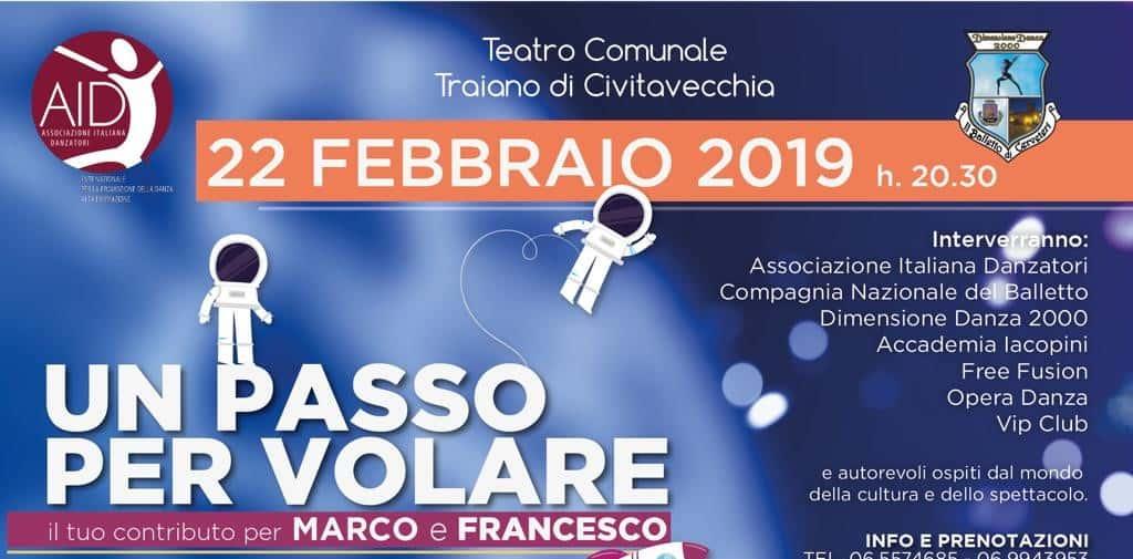 Civitavecchia, il 22 Febbraio lo spettacolo solidale per Marco e Francesco