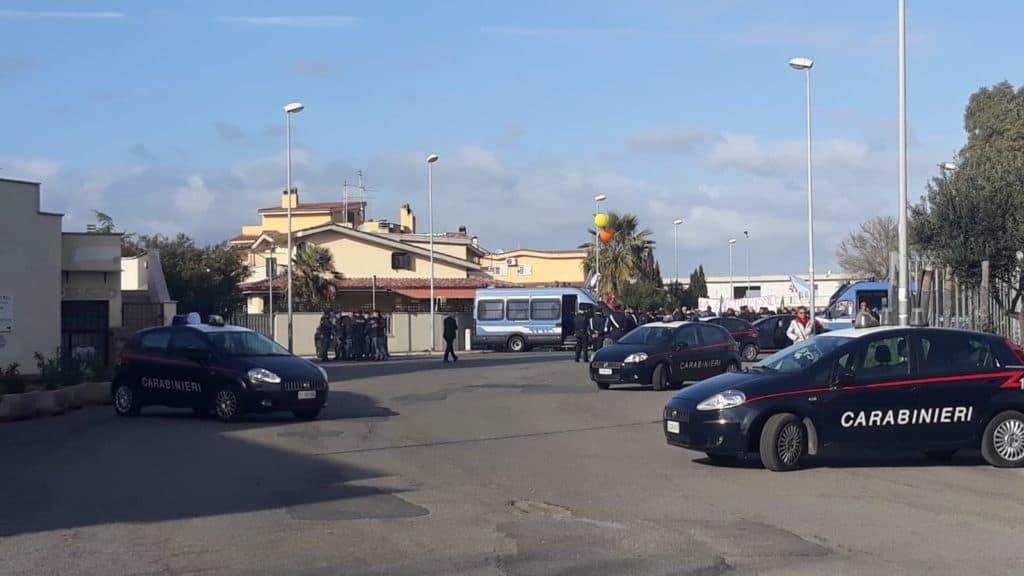 Presidio delle Forze dell'ordine all'intitolazione di Piazza Almirante
