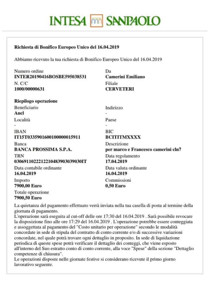 """Marco e Francesco, bonificati i proventi di """"Una maglia per vincere"""""""