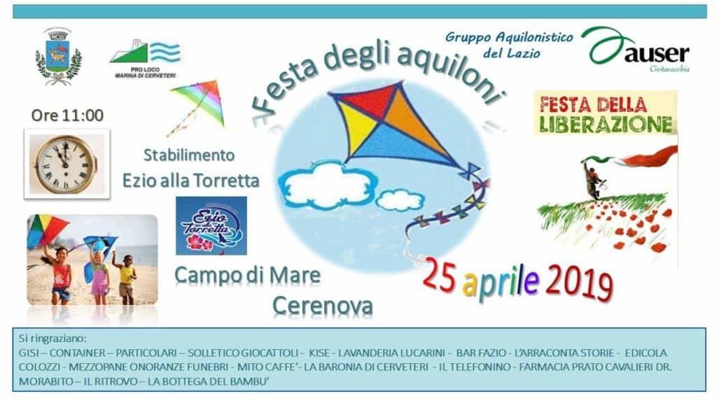 Cerveteri, giovedì 25 aprile la celebre festa degli aquiloni