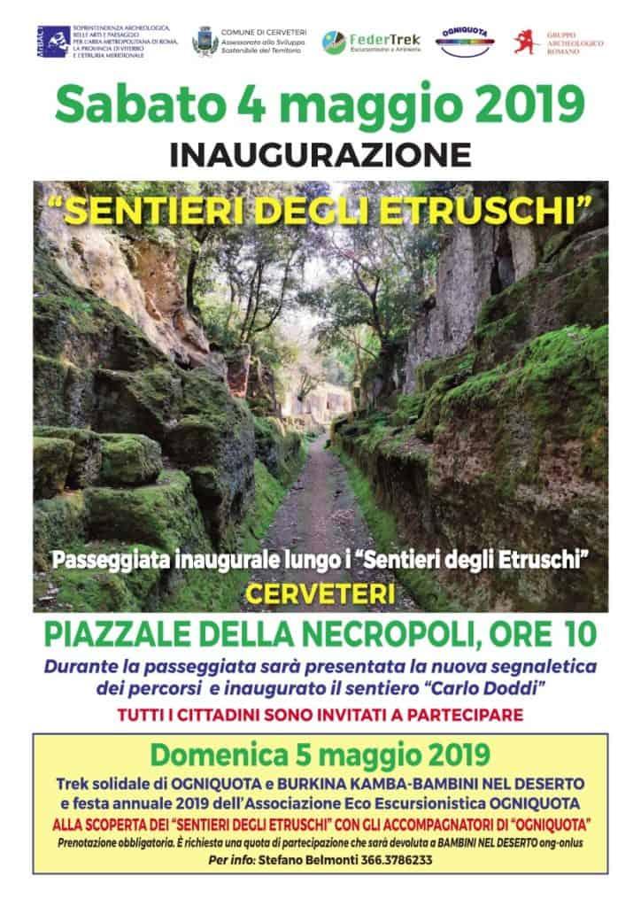 """Inaugurazione """"Sentieri degli Etruschi"""" rinviata causa maltempo"""
