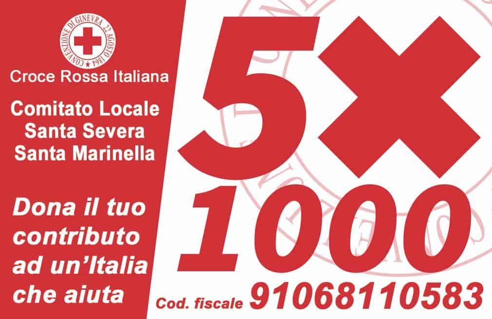 """""""Dona il 5x1000 alla Croce Rossa"""""""