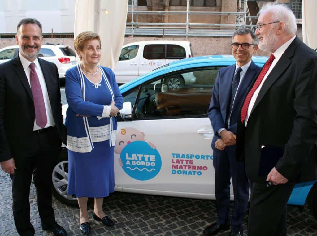 Dalla Centrale del Latte di Roma una nuova auto per la raccolta di latte materno