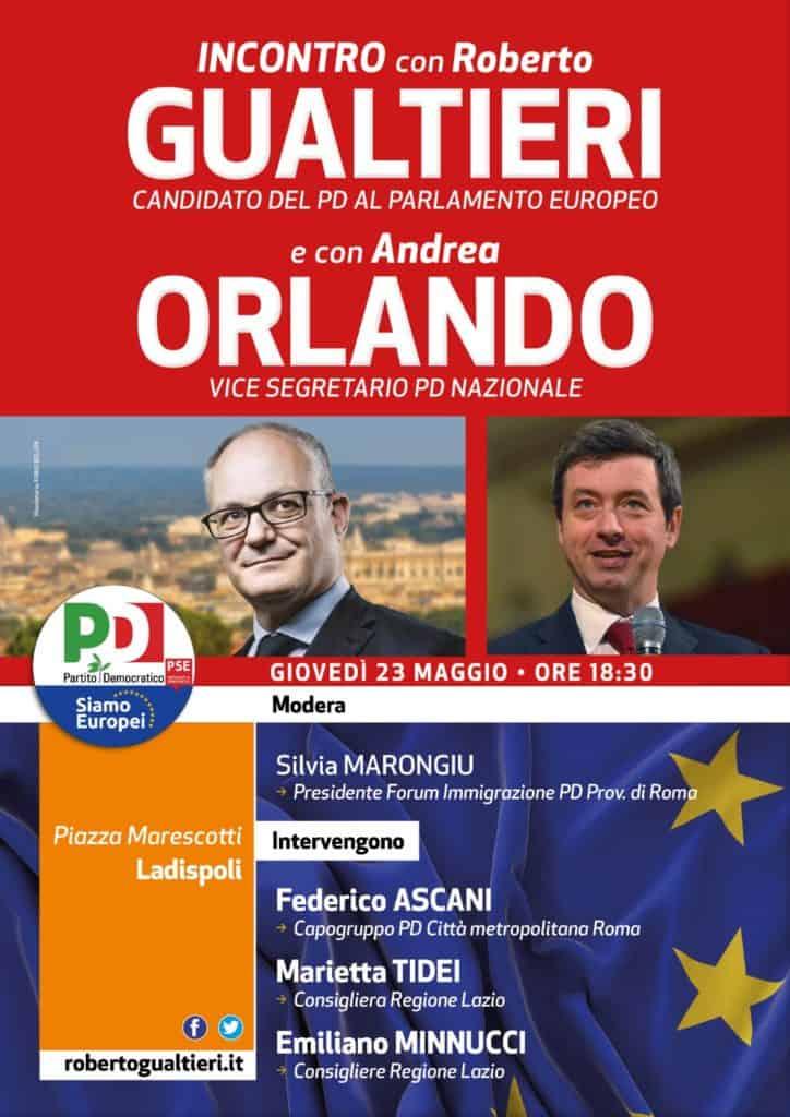 PD Ladispoli, giovedì l'incontro col candidato alle europee Roberto Gaultieri