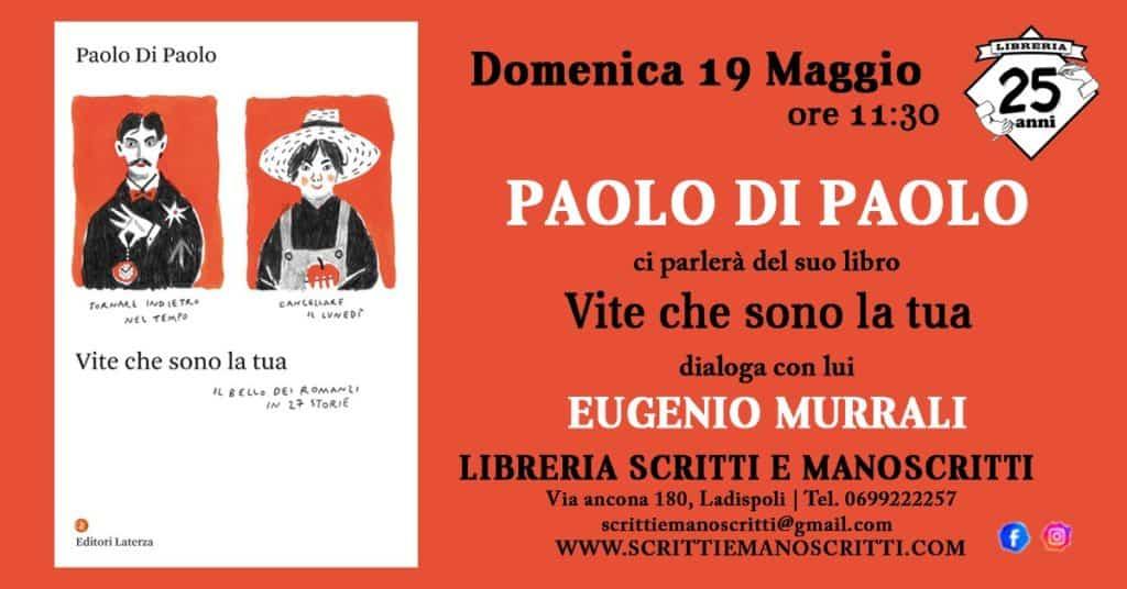 Ladispoli, Paolo Di Paolo ospite di Scritti d'Autore