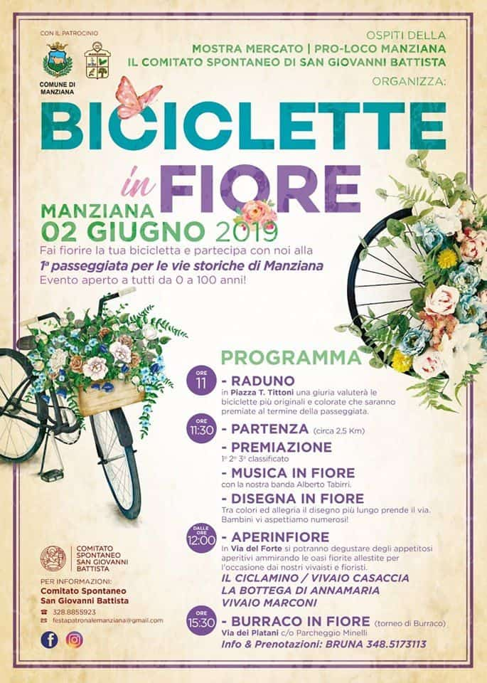 Tutto pronto per Biciclette in fiore a Manziana