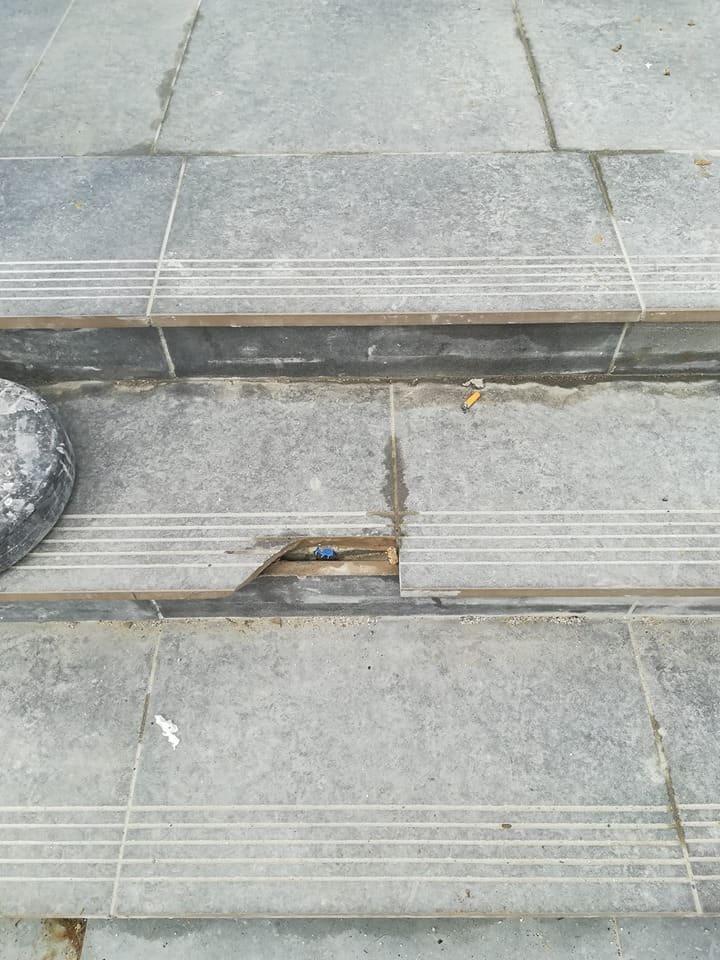Marina di Cerveteri, primi danni alla stazione ferroviaria