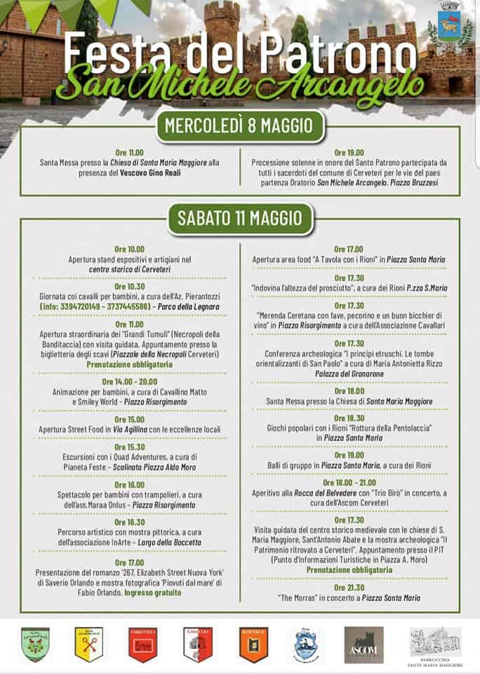 Cerveteri, festa di San Michele Arcangelo: il programma di oggi
