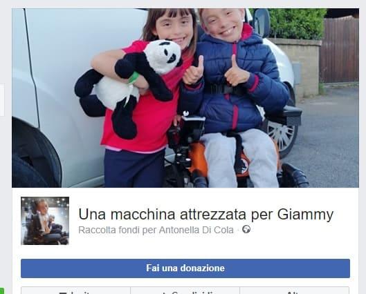 Una macchina attrezzata per Giammy, al via la raccolta fondi
