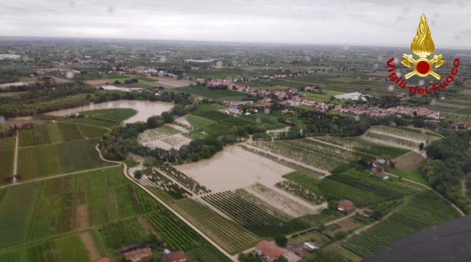 Maltempo: esondato il fiume Savio in Emilia Romagna