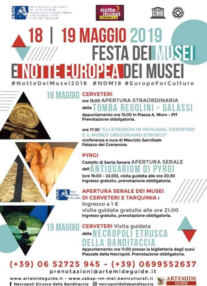 Festa e Notte Europea dei Musei, gli incontri a Cerveteri nel weekend