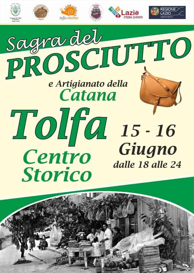 Tolfa, a Giugno la sagra del prosciutto e artigianato della Catana