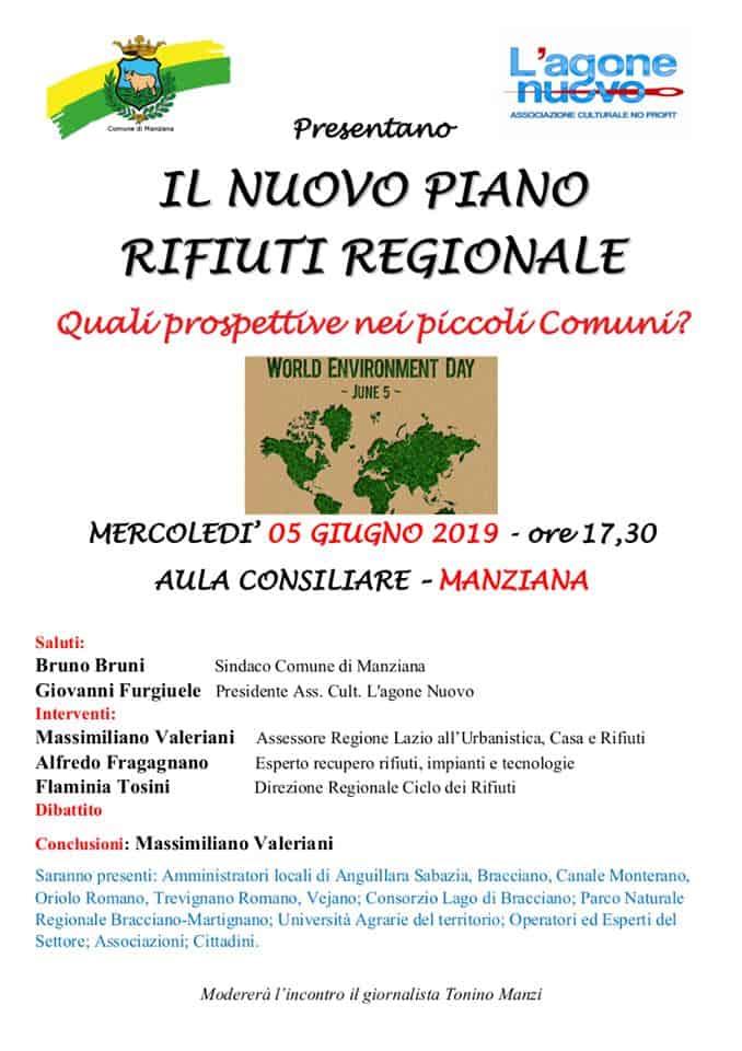 Manziana, incontro pubblico sul nuovo piano rifiuti regionale