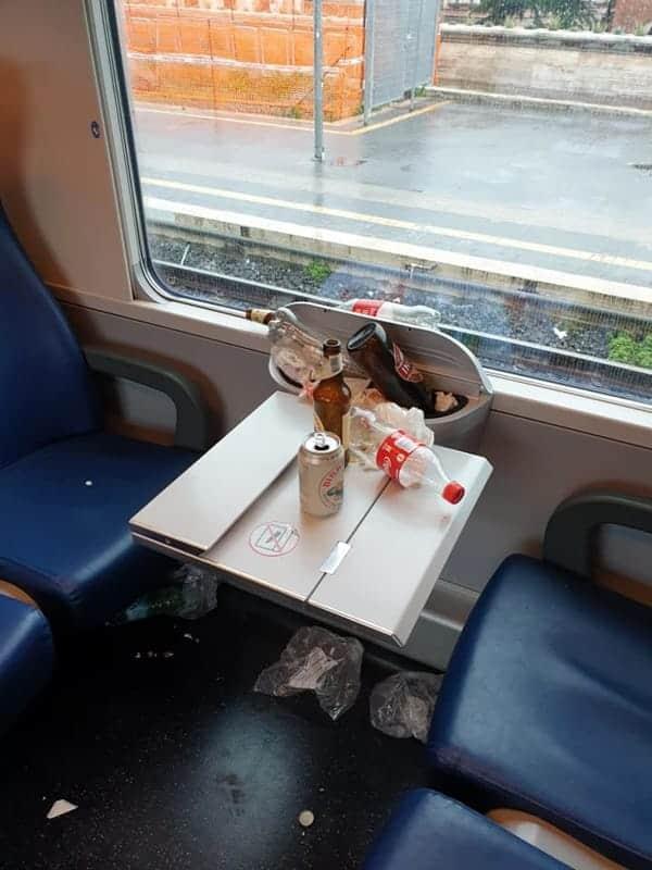 Coppa Italia, ecco come è stato ridotto il treno usato dai tifosi dell'Atalanta