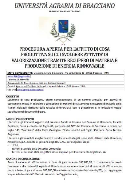 """Cupinoro, rifiuti: Università Agraria pubblica un bando: """" Offesa ai cittadini"""""""