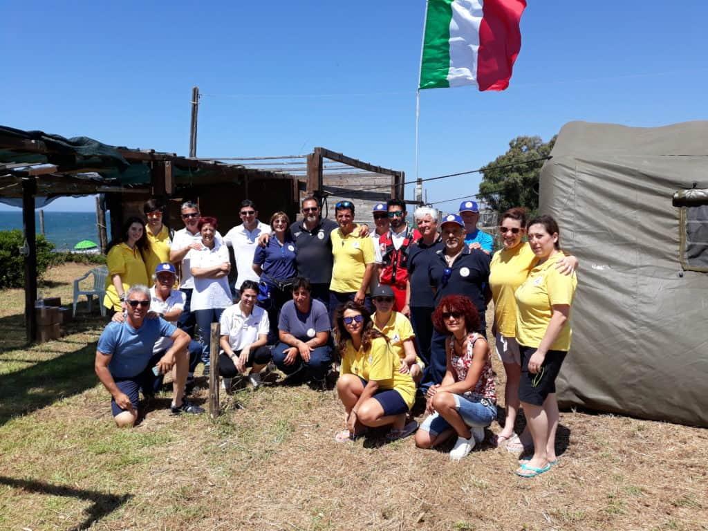 La Protezione Civile Comunale di Ladispoli all'evento delle Frecce Tricolori!