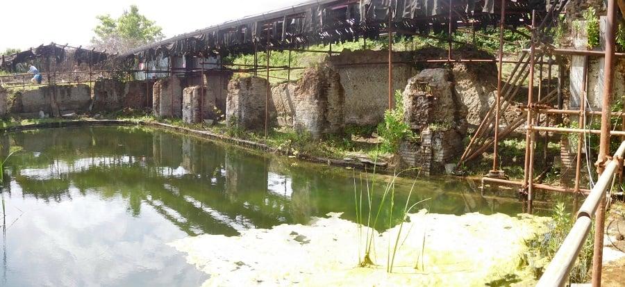 Il sindaco di Cerveteri Alessio Pascucci  in visita alle antiche  Aquae Caeretanae