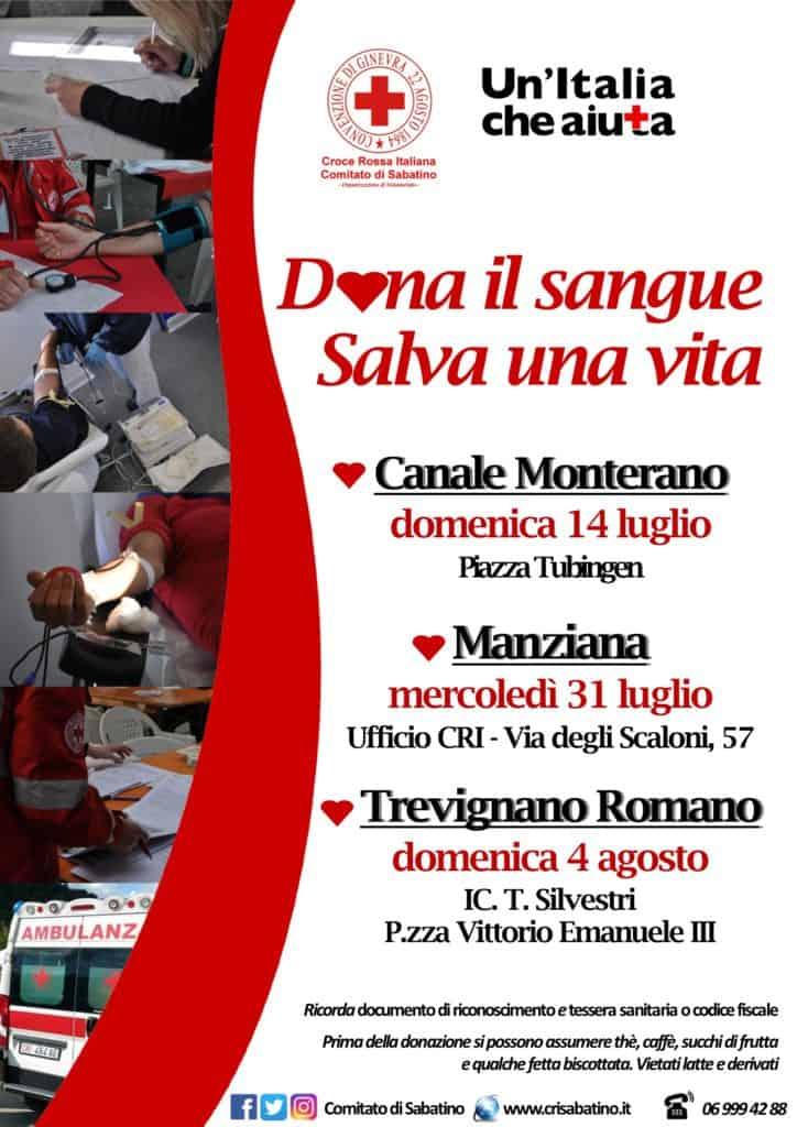 Croce Rossa, due mesi pieni di iniziative con il Comitato di Sabatino