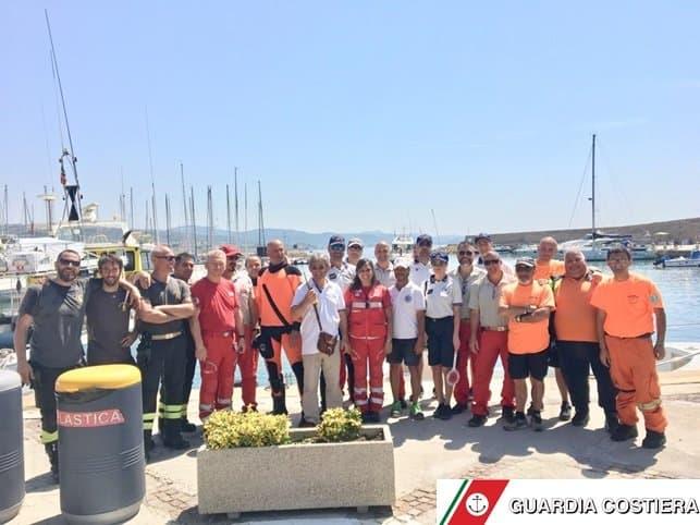 Esercitazione antincendio a Santa Marinella per la Capitaneria di Porto