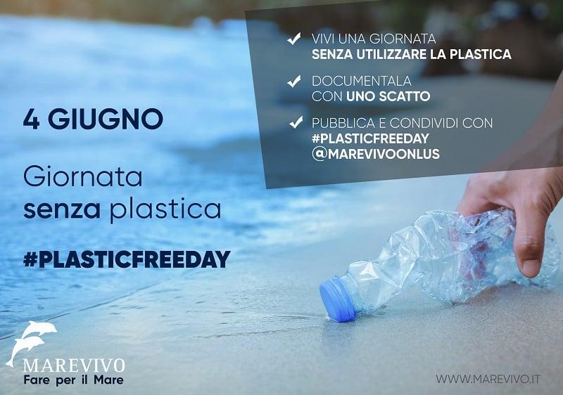 """#PlasticFreeDay, Marevivo lancia """"la giornata senza plastica"""""""