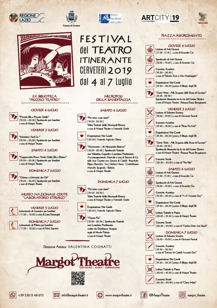 Cerveteri, arriva il Festival del Teatro Itinerante