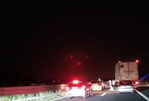 Nella notte brutto incidente sulla A12