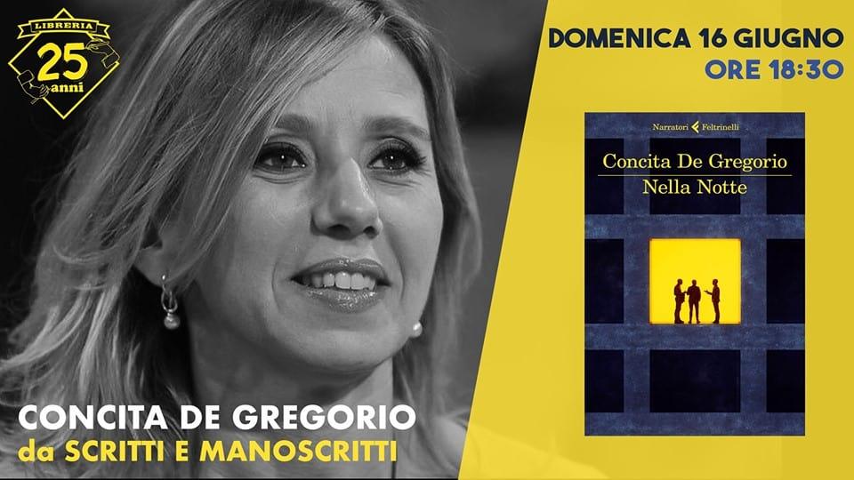 Ladispoli, Concita De Gregorio presenta 'Nella Notte'