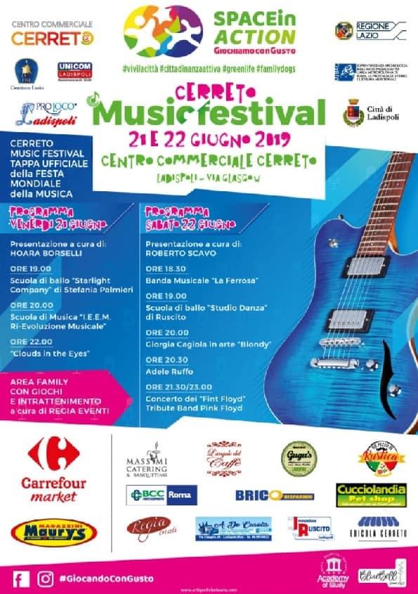 """Ladispoli, al via la 4° edizione del """"Cerreto Music Festival!"""""""