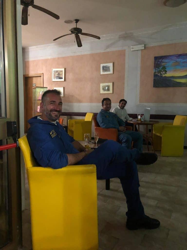 L'Equipaggio delle Frecce Tricolore ospite dell'Hotel Villa Margherita