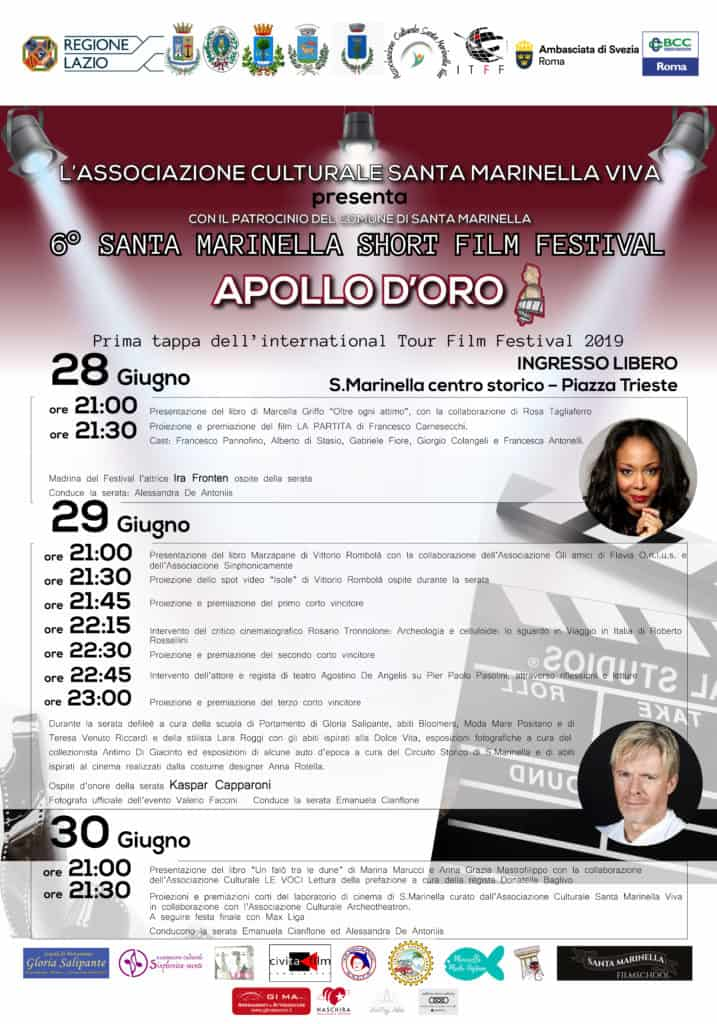 Santa Marinella Film Festival, il programma dal 28 al 30 giugno