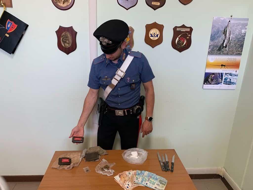 Controlli antidroga dei carabinieri, in manette 38enne pusher