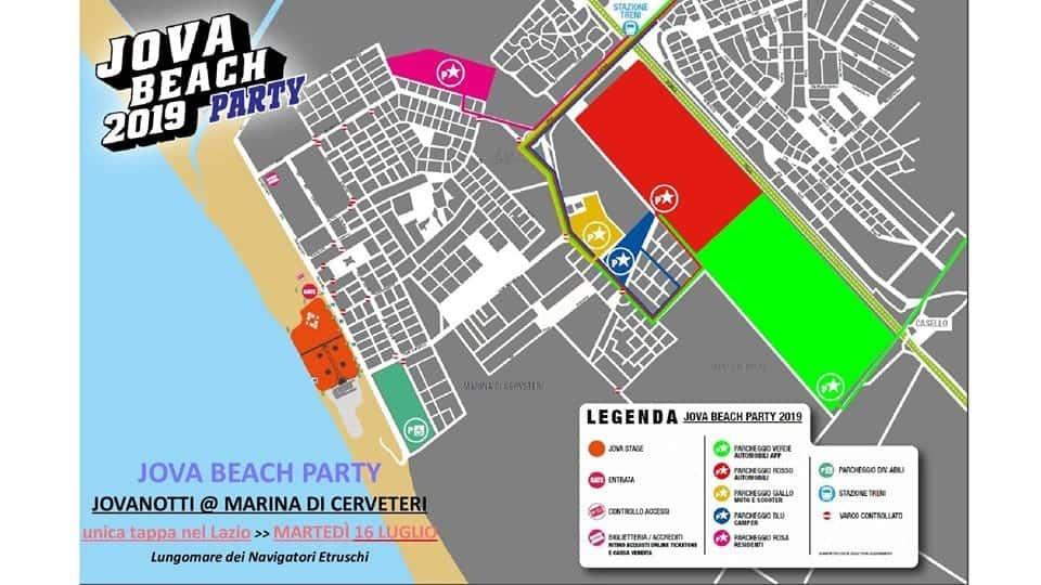 Marina di Cerveteri, Jova Beach Party: tutte le informazioni su come raggiungere Campo di Mare