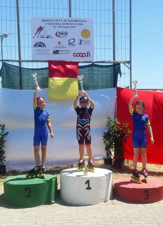 Pattinaggio velocità: 17 medaglie ed 1 record per la Debby Roller Team