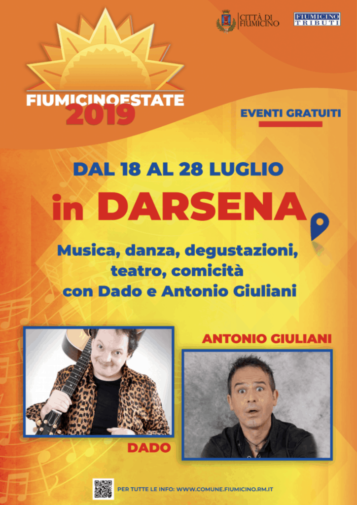Fiumicino Estate, da domani 10 giorni di eventi in Darsena