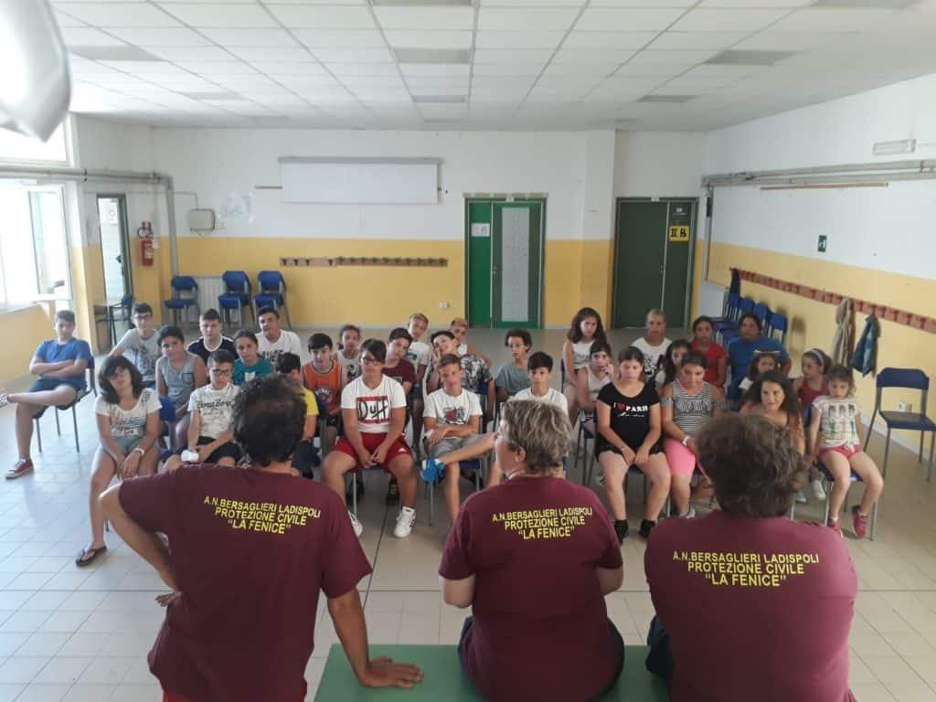 'Anch'io sono la protezione civile', iniziato il campo scuola a Ladispoli
