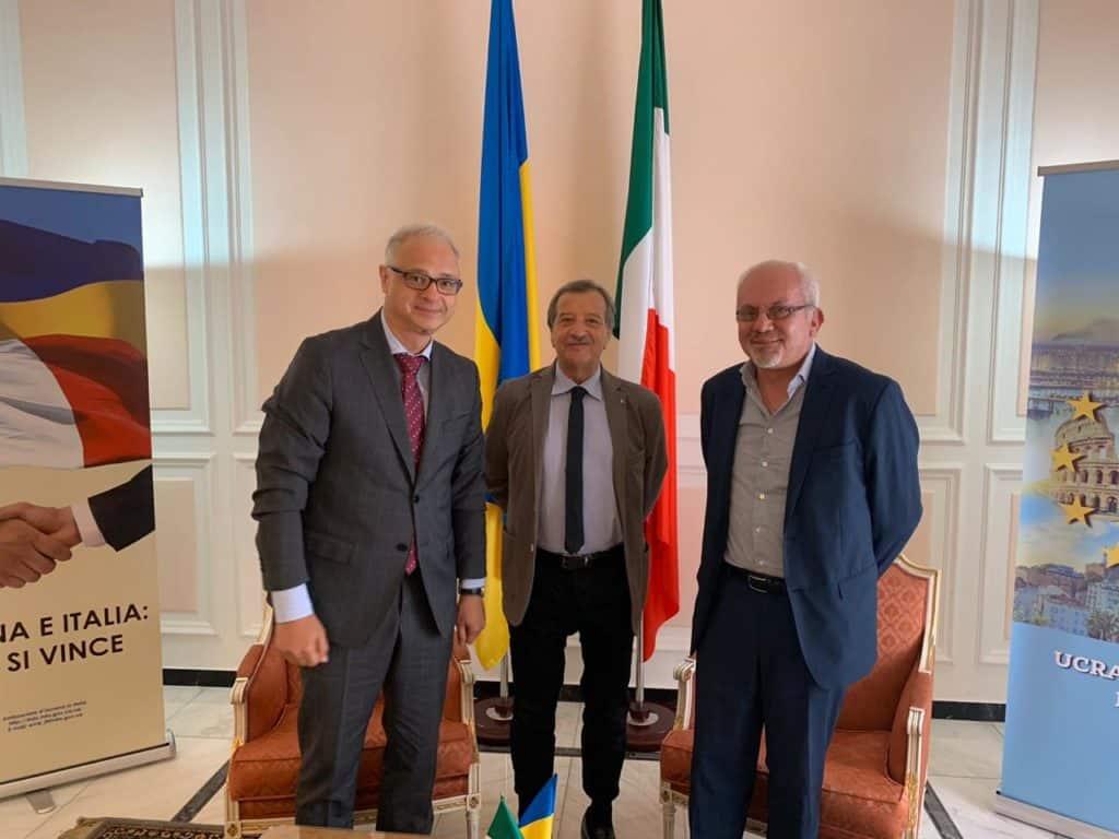 Santa Marinella, il sindaco Tidei ed il consigliere D'Emilio ricevuti dall'Ambasciatore d'Ucraina in Italia