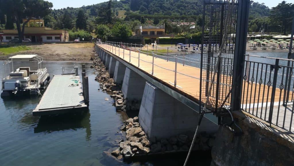 Lago di Bracciano, terminati i lavori al pontile
